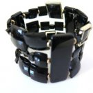 High Fashion Black Stretch Cuff Bracelet