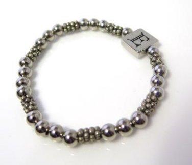 Beaded Initial E Bracelet