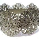 Silver Tone Cuff Filigree Cuff Bracelet