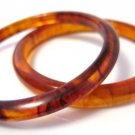 Faux Tortoise Shell Bangle Bracelets