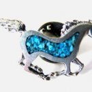 Horse Sweater Lapel Pin with Inlay Look