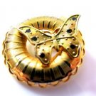 Art Deco Butterfly Circle Pin Brooch
