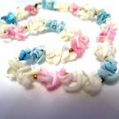 Pastel Shell Necklace Vintage