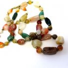 Multi Colored Glass Bead Necklace Vintage