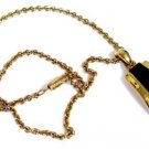 Lia Sophia Necklace Black and Gold