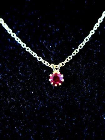 Tiny Garnet Birthstone Necklace January