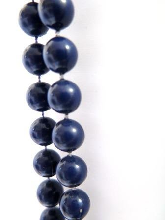 Two Strand Navy Beads Vintage