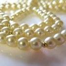 Flapper Pearl Necklace Champagne Ivory