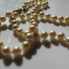 Vintage Faux Pearl Choker Ivory