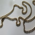 Gold Tone Ball Plated Chain Necklace