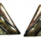 Sandstone Triangle Pierced Earrings