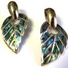Abalone Look Pierced Earrings