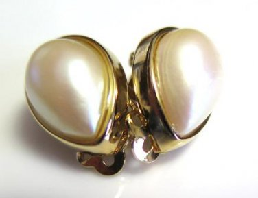 Richelieu Pearl Earrings Clip On