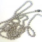 """Silver Tone Ball Chains Necklaces 24"""""""