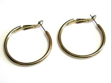 Post Style Gold Hoops Hinged Close