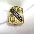 Honor Enamel Gold Tone Pin