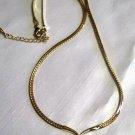 Center Drop Gold Tone Necklace