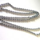 Silver Tone Fashion Necklace 38""