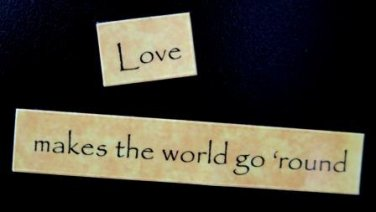 Love Makes the World Go 'round Magnet