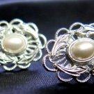 Silver Tone Filigree Fashion Earrings Post