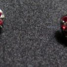 Red Rhinestone Heart Fashion Earrings Post