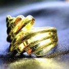 Gold 18K GF Ring Ladies Women's