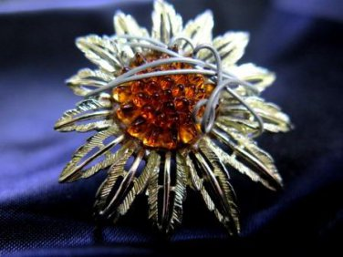 Handcrafted Sunflower Ring