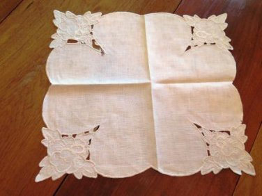 Cut Embroidery Table Topper Napkin