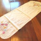 Embroidered Floral Dresser Scarf Table Runner