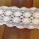Vintage Crochet Table Runner Cream