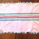 Striped Dresser Scarf Table Topper Piano Topper Vintage