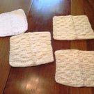 Vintage Knit Dish Cloths Set of 4