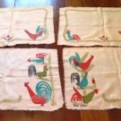 Vintage Wert by Hand Rooster Placemats Set of 4