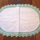 Knitted Trim Placemat or Table Topper