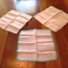 Dainty Lacey Handkerchiefs Vintage Set of 3