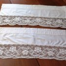 Valance Curtains Toppers Lace Trim Pair