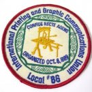 International Printing and Graphic Communications Union Patch