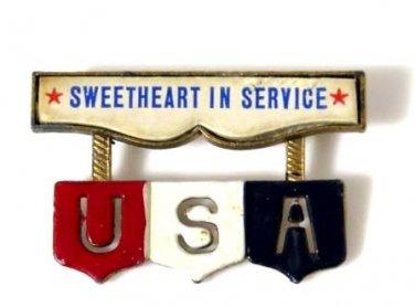 WWII Sweetheart in Service Pin