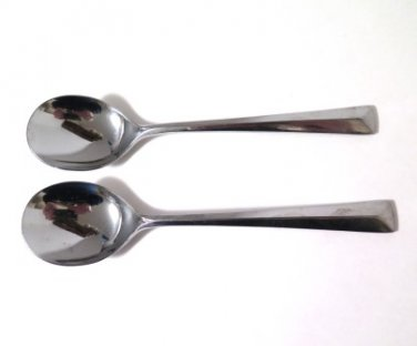 Reed & Barton Rebacraft Stainless Silverware CREST Serving Spoons