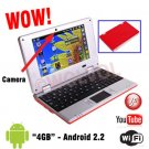 CAMERA Version RED 7inch Android Laptop Installed WiFi 4gb/256mb (Pouch Case, Charger, Mouse)