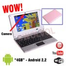CAMERA Version PINK 7inch Android Laptop Installed WiFi 4gb/256mb (Pouch Case, Charger, Mouse)