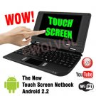 BLACK 7inch Android Touch Screen Laptop Installed WiFi 4gb/256mb (Pouch Case, Charger, Mouse)