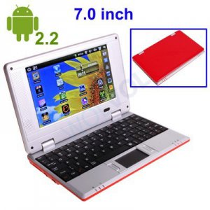 RED 7inch Android Tablet Laptop Netbook Installed WiFi 4gb/256mb (Pouch Case, Charger, Mouse)