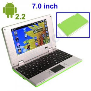 GREEN 7inch Android Tablet Laptop Netbook Installed WiFi 4gb/256mb (Pouch Case, Charger, Mouse)