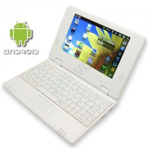 WHITE 7inch Android Tablet Laptop Netbook Installed WiFi 4gb/256mb (Pouch Case, Charger, Mouse)