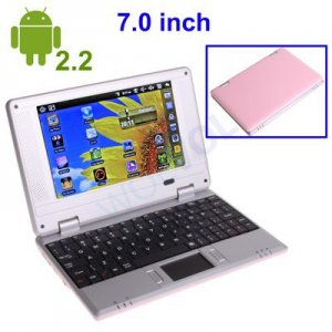 PINK 7inch Android Tablet Laptop Netbook Installed WiFi 4gb/256mb (Pouch Case, Charger, Mouse)