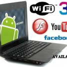 Cheap 7inch Tablet Laptop Netbook Installed WiFi 4gb/256mb (Pouch Case, Charger, Mouse)