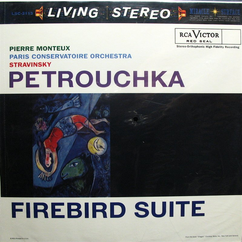 STRAVINSKY Petrouchka/Firebird MONTEUX RCA/Classic LSC-2113 ~ New & Sealed 180g LP