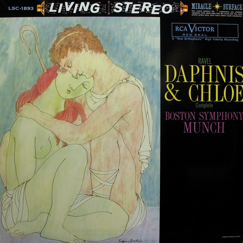 RAVEL Daphnis & Chloe MUNCH Boston Symphony RCA/Classic LSC-1893 (NM/NM) 180g LP