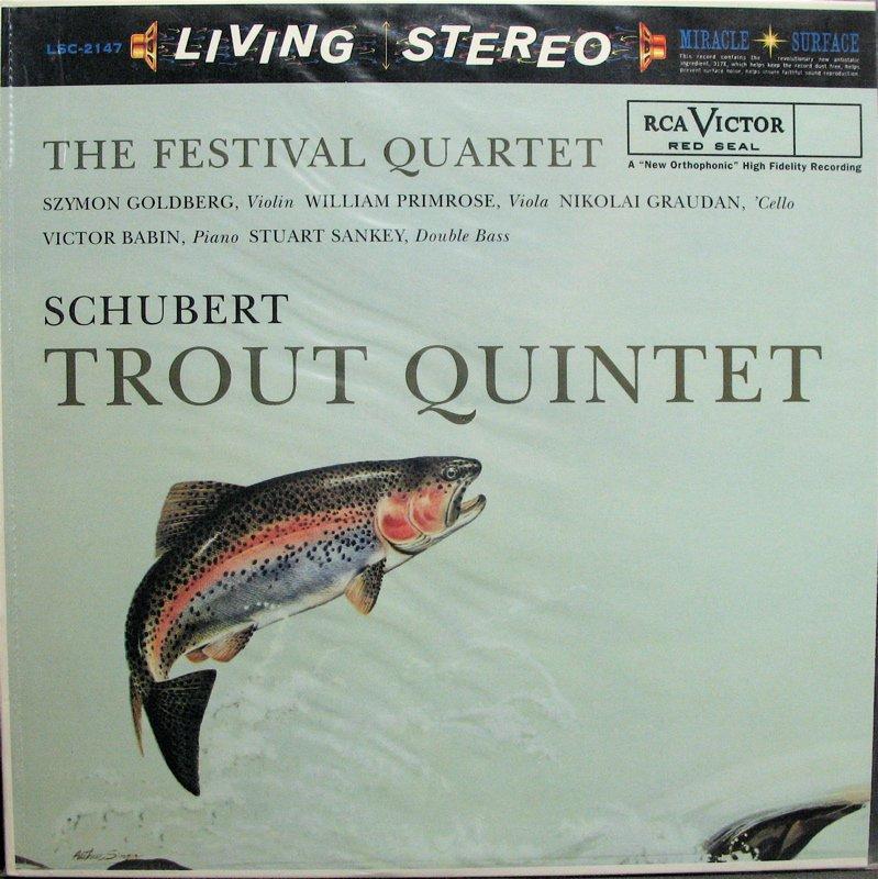 SCHUBERT Trout Quintet FESTIVAL QUARTET RCA/Classic LSC-2147 NEW & SEALED 180g LP